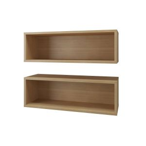 TygerClaw Wall Shelves (2) Natural Maple-TYDS9223505