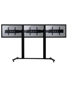 """TygerClaw Mobile 3 TVs Stand for 30"""" - 60"""" TV"""