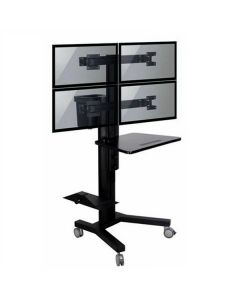 TygerClaw Mobile 4 TVs Stand with PC holder
