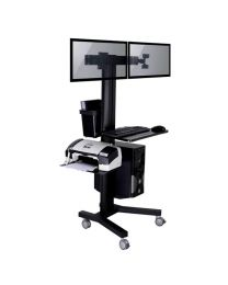 TygerClaw Mobile 2 TVs Stand with PC holder