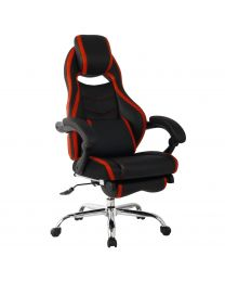 TygerClaw Executive High Back PU Leather Office Chair (Red)