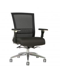 TygerClaw Mesh Mid Back and Fabric Seat Office Chair
