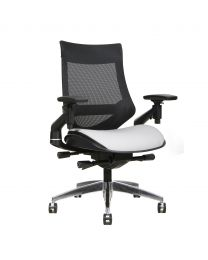 TygerClaw Mesh Mid Back and Bonded Leather Seat Office Chair